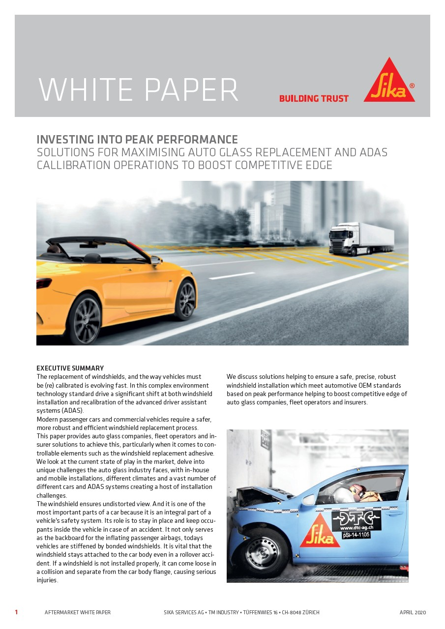Solutions for Maximising Auto Glass Replacement and ADAS Calibration Operations to Boost Competitive Edge